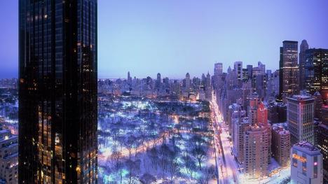 141204セントラルパークの夜景@アメリカ ニューヨーク