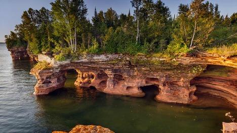 131130デビルズ島の洞窟@アメリカ ウィスコンシン州