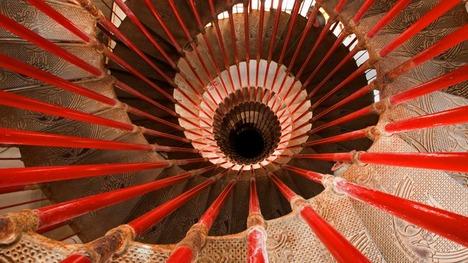 131105リュブリャナ城のらせん階段@スロベニア リュブリャナ