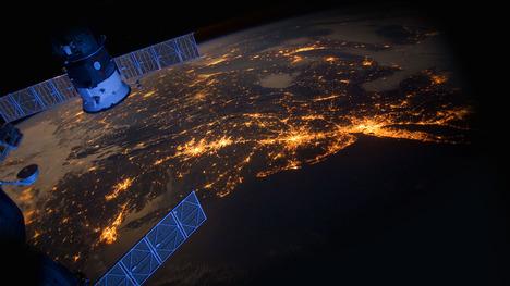 131004ISSから見たアメリカ東海岸@国際宇宙ステーション