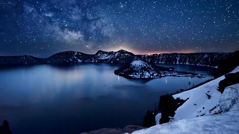 130501水面に映る満天の天の川@アメリカ オレゴン州