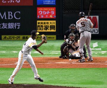 巨人中島、日本シリーズ3死球 カープOB達川光男の日本シリーズ最多記録に並ぶ