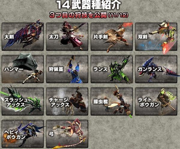14武器種