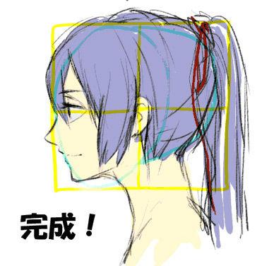 横顔 描き 方