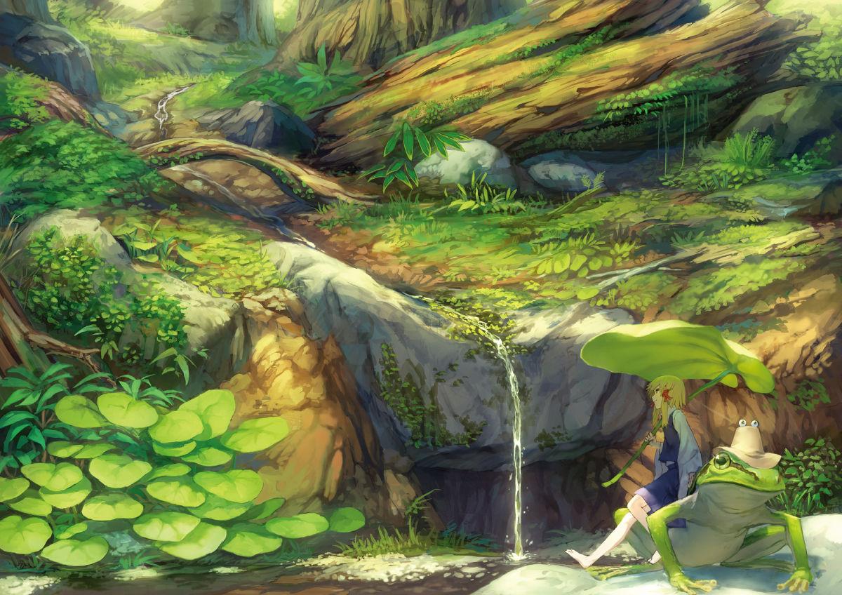 書籍レベルの背景講座!?】諏訪子と学ぶ背景イラスト : 【萌え絵イラスト