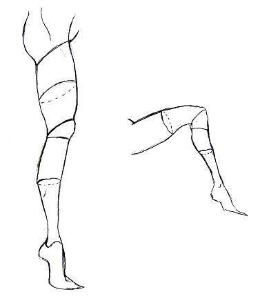 足の描き方(横2)
