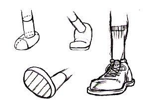 足の描き方(応用2)