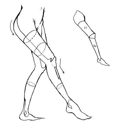 足の描き方(横1)