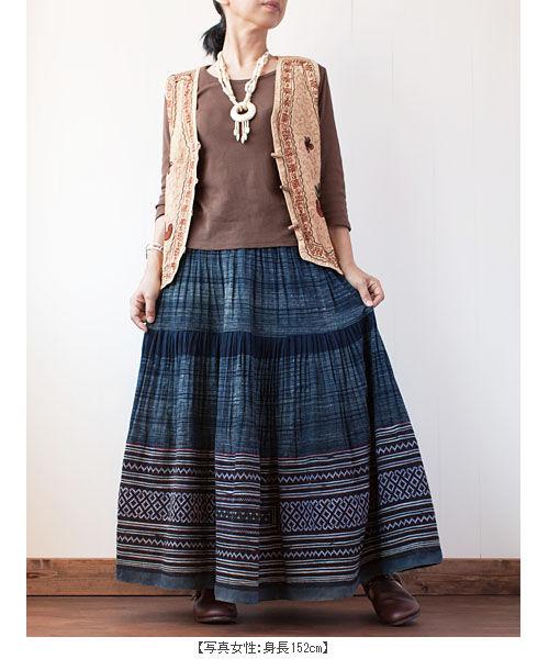 モン族ロングスカート