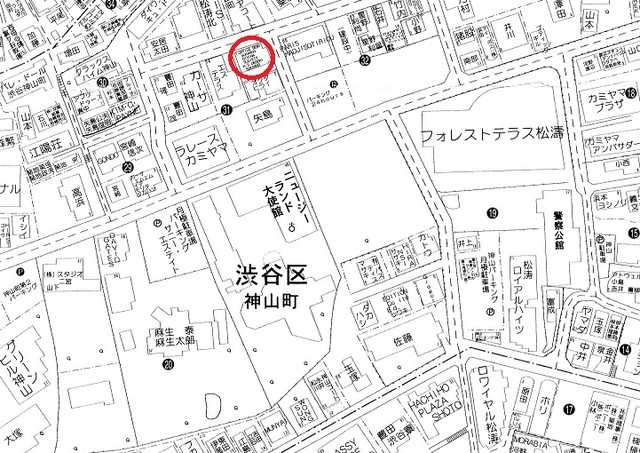松濤と並ぶ高級住宅地神山町
