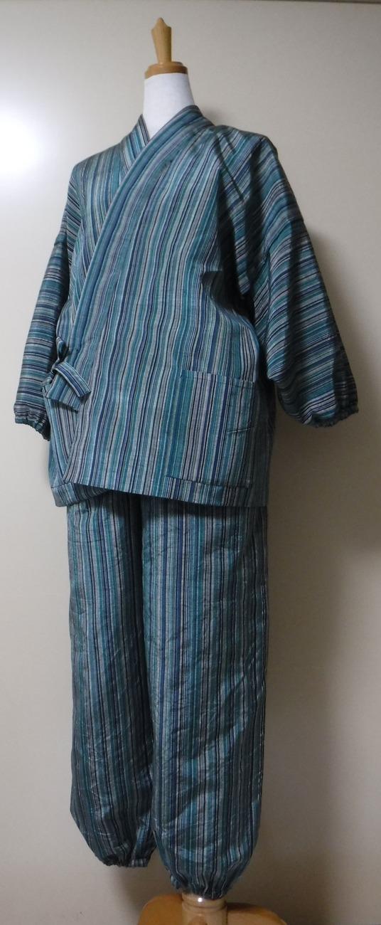 大島紬のリメイク作務衣
