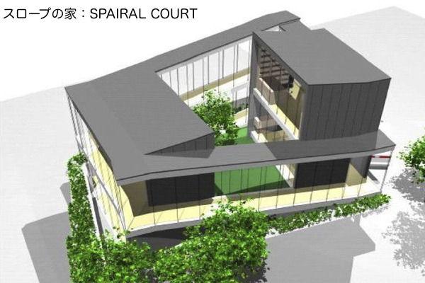 スロープの家:SPAIRAL COURT