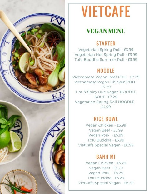 viet cafe menu