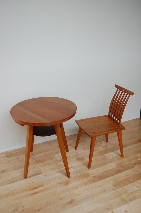 丸テーブル 椅子 さくら  小椅子 胡桃 016