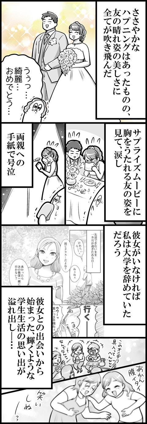 友の結婚式③