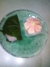 道明寺と八重桜