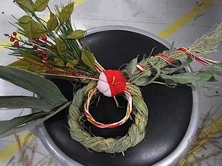 平尾先生の藁飾り