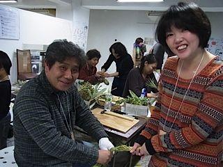 平尾先生と藁三つ編み