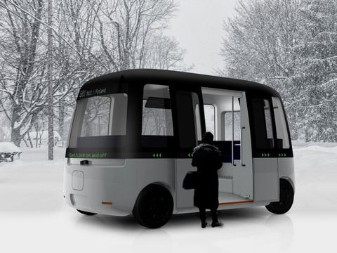 良品計画がデザインを提供したGachaシャトルバス
