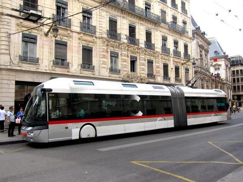 リヨンのトロリーバス