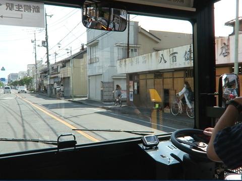 桐生本町通りを走行中