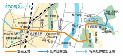 LRT路線図