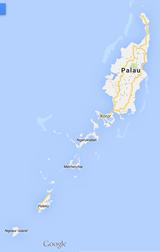 パラオ島々google map