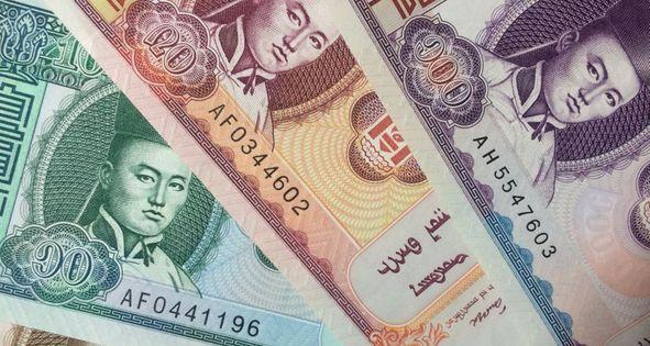 モンゴル 紙幣 金