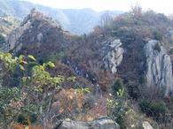 えぼし岩を目指す