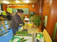 竹の組み立て