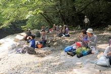 �蓬莱溪で昼食