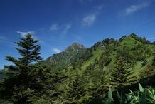 �登山途中の景色