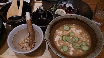 冷や汁と鰹のたたき&海鮮丼 一汁五穀
