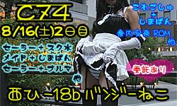 C74・8月16日(土)2日目西ひ-18b【バンジーねこ】