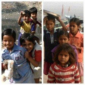 同じインドで出会った光景。「写真撮ってくれるの!?嬉しい!」(左)、「写真撮らせてやるからお金ちょうだい!」(右)