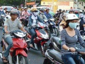ベトナム、ホーチミンの渋滞。でも、これもビジネスチャンスになる?