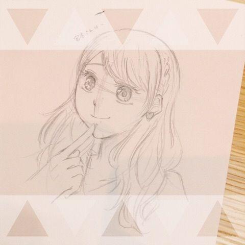 【エンタメ画像】【カントリー・ガールズ】イラストレーター山木梨沙、稲場愛香を鉛筆で急いで描く