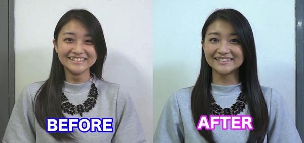 【エンタメ画像】【アンジュルム】メイク前とメイク後の和田あやちょをご覧ください