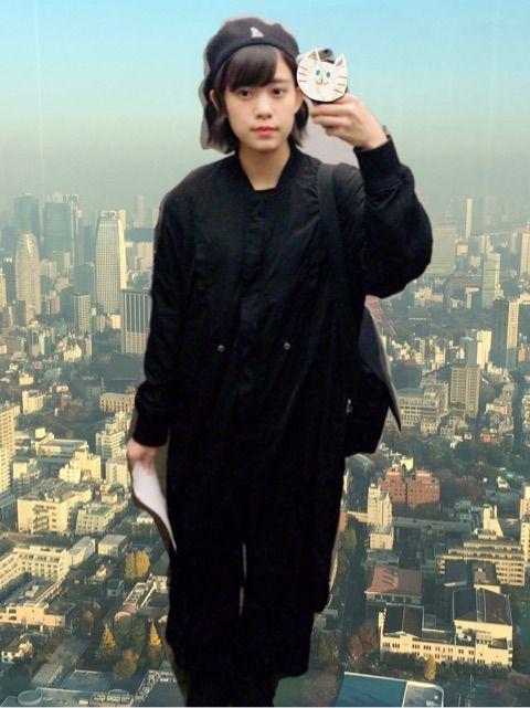 【エンタメ画像】【つばきファクトリー】岸本ゆめの、黒ずくめの私服のお知らせ