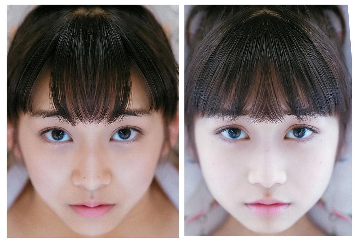 【エンタメ画像】【大発見】ハロメンの顔を左と右に分けて、シンメトリーにしてみたら、色んな事が分かった☆