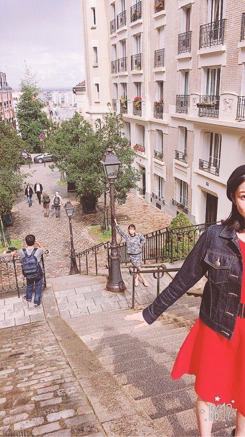 【エンタメ画像】【Juice=Juice】宮本佳林ちゃんさん、パリで高木紗友希の渾身のボケを完全無言