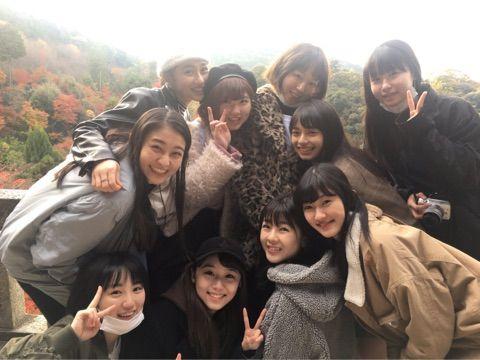 【エンタメ画像】アンジュルム、和田彩花に誘われて清水寺へ行く