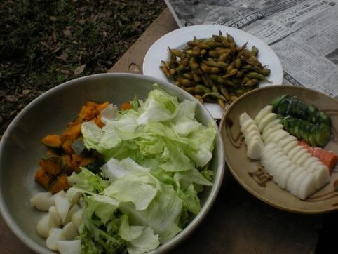枝豆・サラダ・漬物