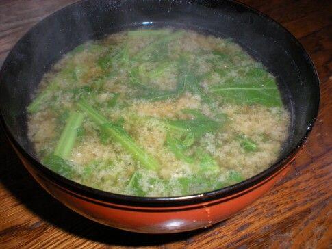 からし菜の味噌汁