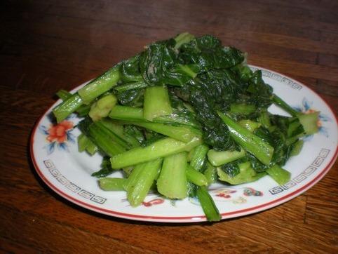 チンゲン菜の塩炒め