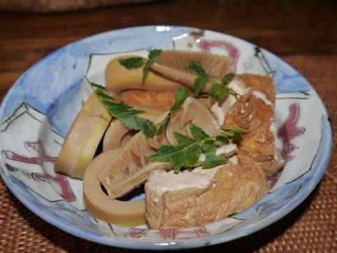 孟宗竹と厚揚げの煮物