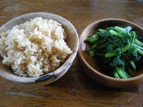 ご飯&わさび菜