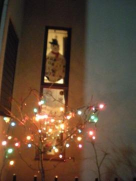 裏の道路側のクリスマス