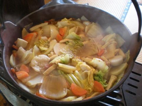 野菜鍋出来上がり♪