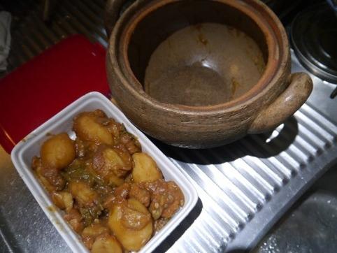 土鍋と煮っころがし